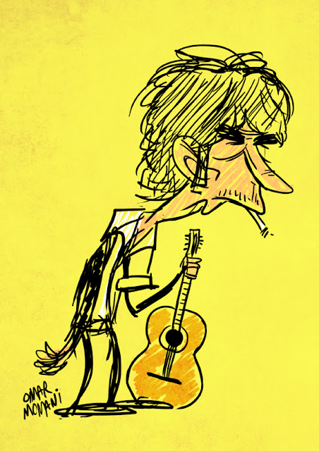 Bob Dylan cartoon