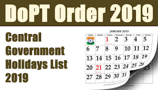 Central-Government-Holiday-List-2019