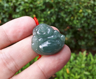 Natural Giok Jadeite Jade Type A Maitreya Carving JDT012 Origin Burma Memo DGL