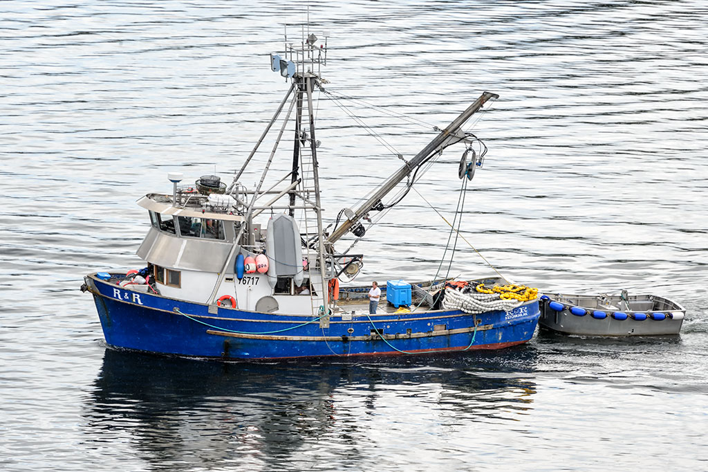 Fishing Boat Readies for the Day in Ketchikan Harbor