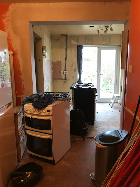 chaos in a kitchen renovation