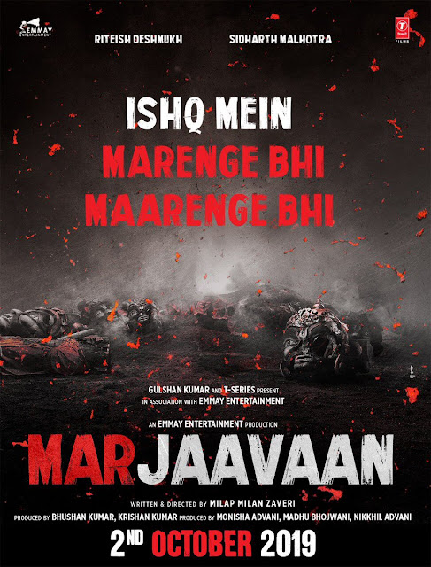 Marjaavaan First Look Poster - Sidharth Malhotra, Tara Sutaria &  Riteish Deshmukh Team Up For A Thrilling Game