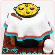 Tarta fondant Cocinero paella