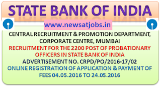 sbi+po+recruitment+2016