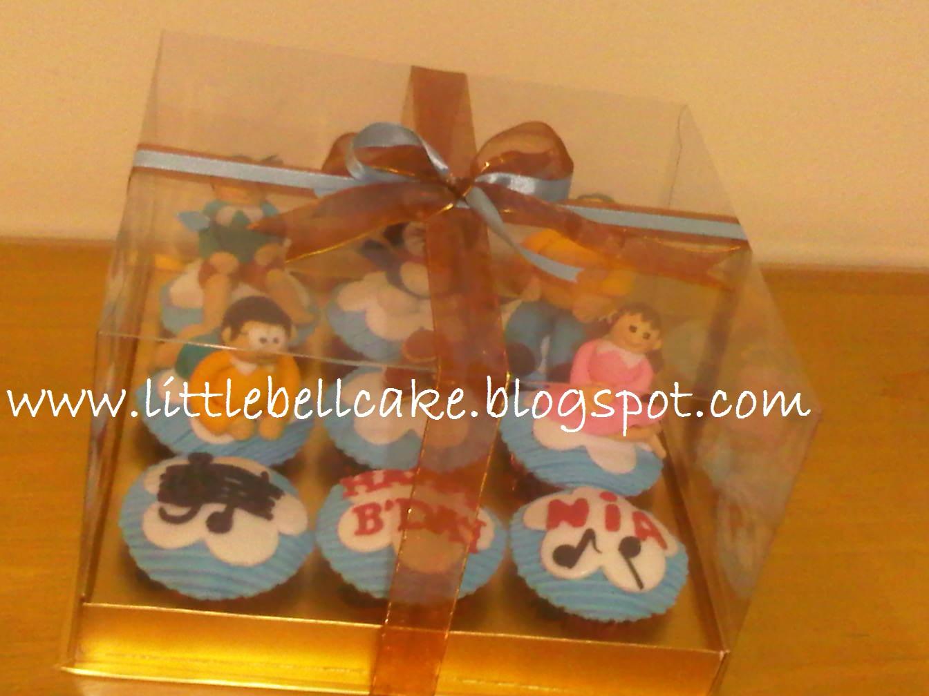 Japanese Dora Cake Recipe: Little Bell Cake, Cookies & Bento: Doraemon Cup Cakes