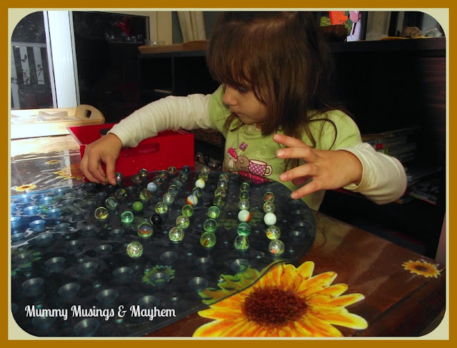 Toddler Marble Fine Motor Activity