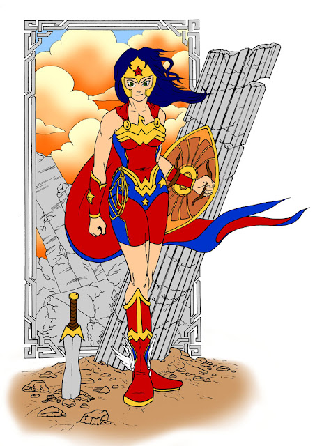 Wonder Woman - les aplats de couleurs