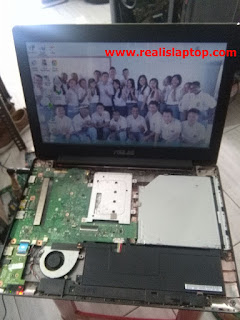 Service Laptop Asus X453S No Display