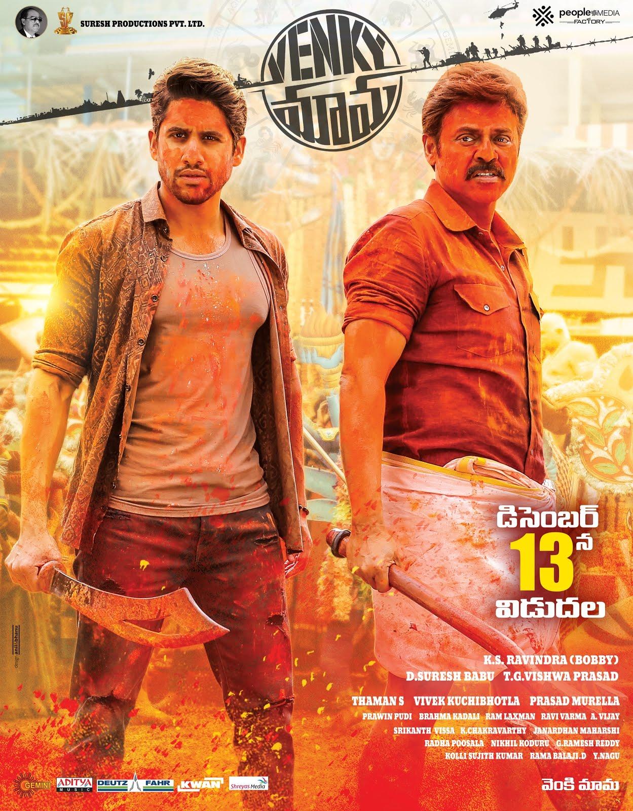 Venky Mama (2019) Telugu 350MB Pre-DVDRip 480p