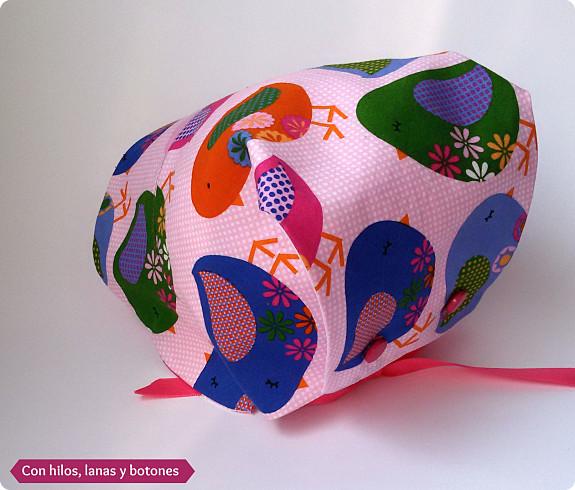 Con hilos, lanas y botones: conjunto pajaritos (pantalón volantes culete y capota abierta)