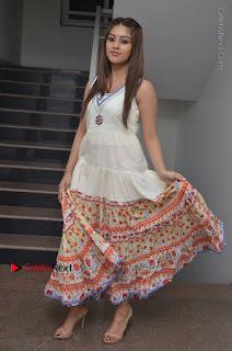 Telugu Actress Anu Emmanuel New Stills in Beautiful White Long Dress  0083.JPG