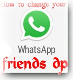 How to change your what's app friends dp