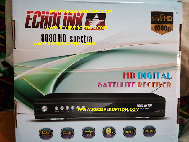 ECHOLINK 8080 HD SPECTRA RECEIVER AUTO ROLL POWERVU KEY NEW SOFTWARE