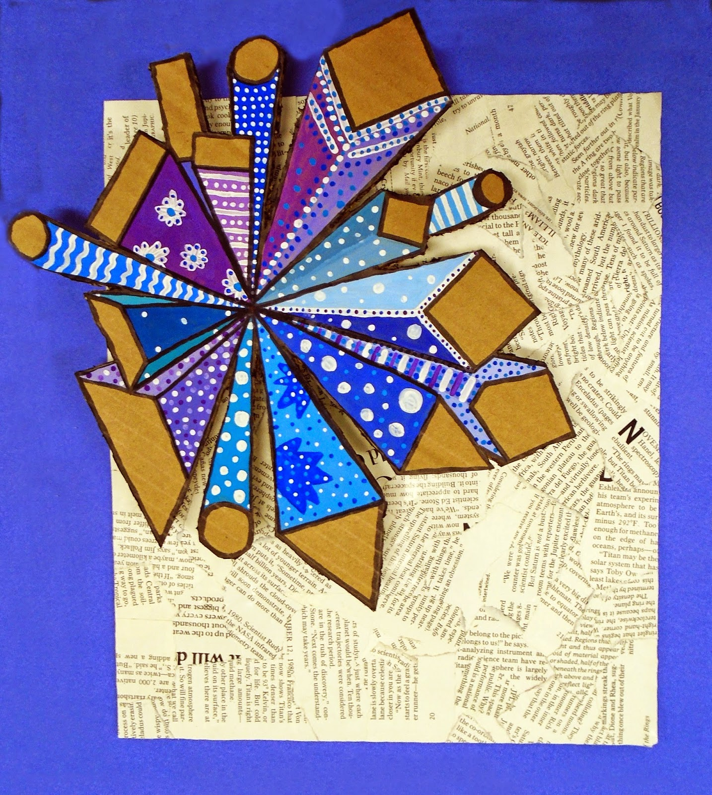Artimus Prime 8th Linear Perspective Mixed Media Collage