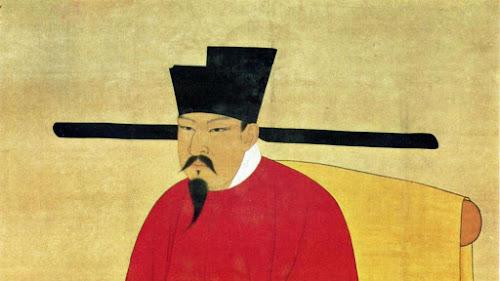 Pintura representando o imperador Shenzong, da dinastia Song, compilador dos Sete Clássicos Militares da China Antiga.