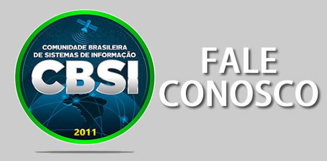 Entre em contato com a Comunidade Brasileira de Sistemas de Informação - CBSI.