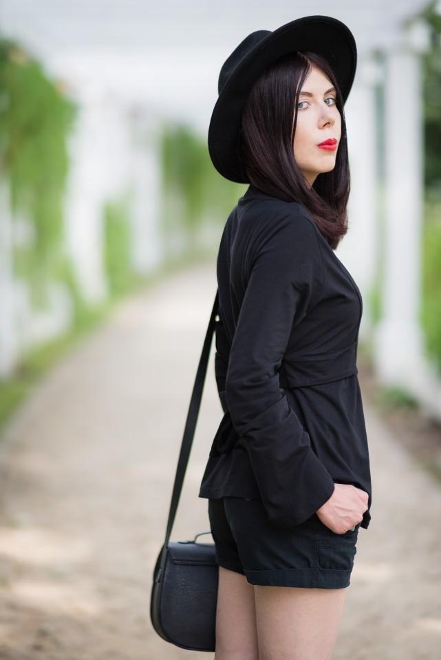 bluzka z haftem | haft | moda w stylu boho | styl boho | stylizacja z kapeluszem | Gdańsk Brzeźno | molo w Brzeźnie | blog modowy | blog o modzie | blog szafiarski