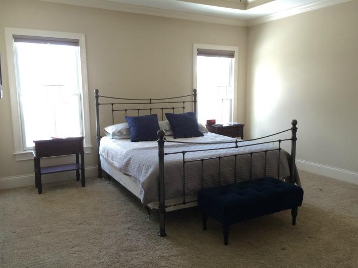 58 Water Street Master Bedroom Masculine Mid Century Boho