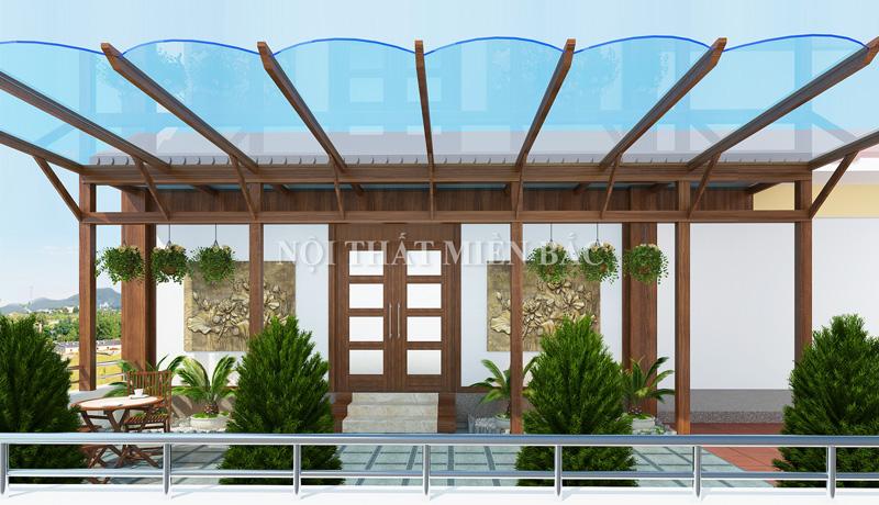 Tư vấn thiết kế phòng họp theo kết cấu nhà vườn