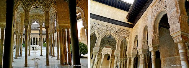 Pátio de los Leones, na Alhambra