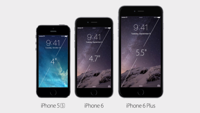 Comparison of the new iPhone 6 with the old iPhone 5s
