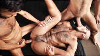 Louis Ricaute bareback 3some – Louis Ricaute, Rodolfo & Fostter Riviera