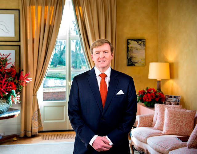 The King's speech which was recorded on 19 December was broadcast in the Netherlands on Christmas Day