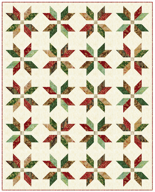 Forest Snow Crystals Quilt Free Pattern designed by Ariga Mahmoudlou of Robert Kaufman Fabrics, Featuring Northwoods Fabrics