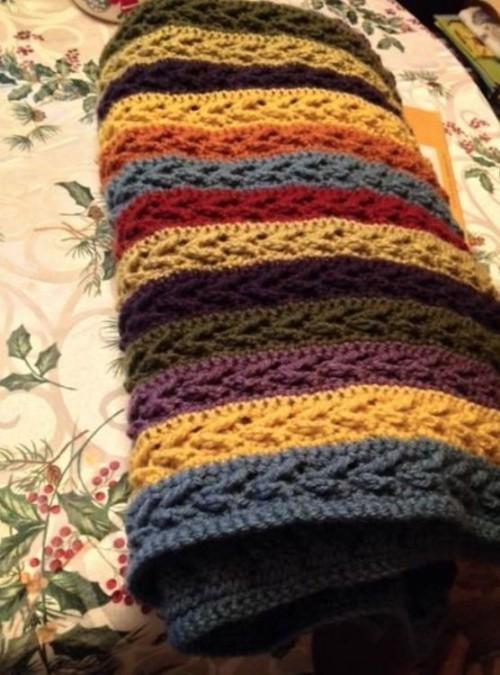 Arrow Stitch Blanket - Free Pattern