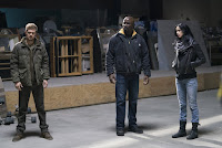 Krysten Ritter, Finn Jones and Mike Colter in The Defenders Series (14)