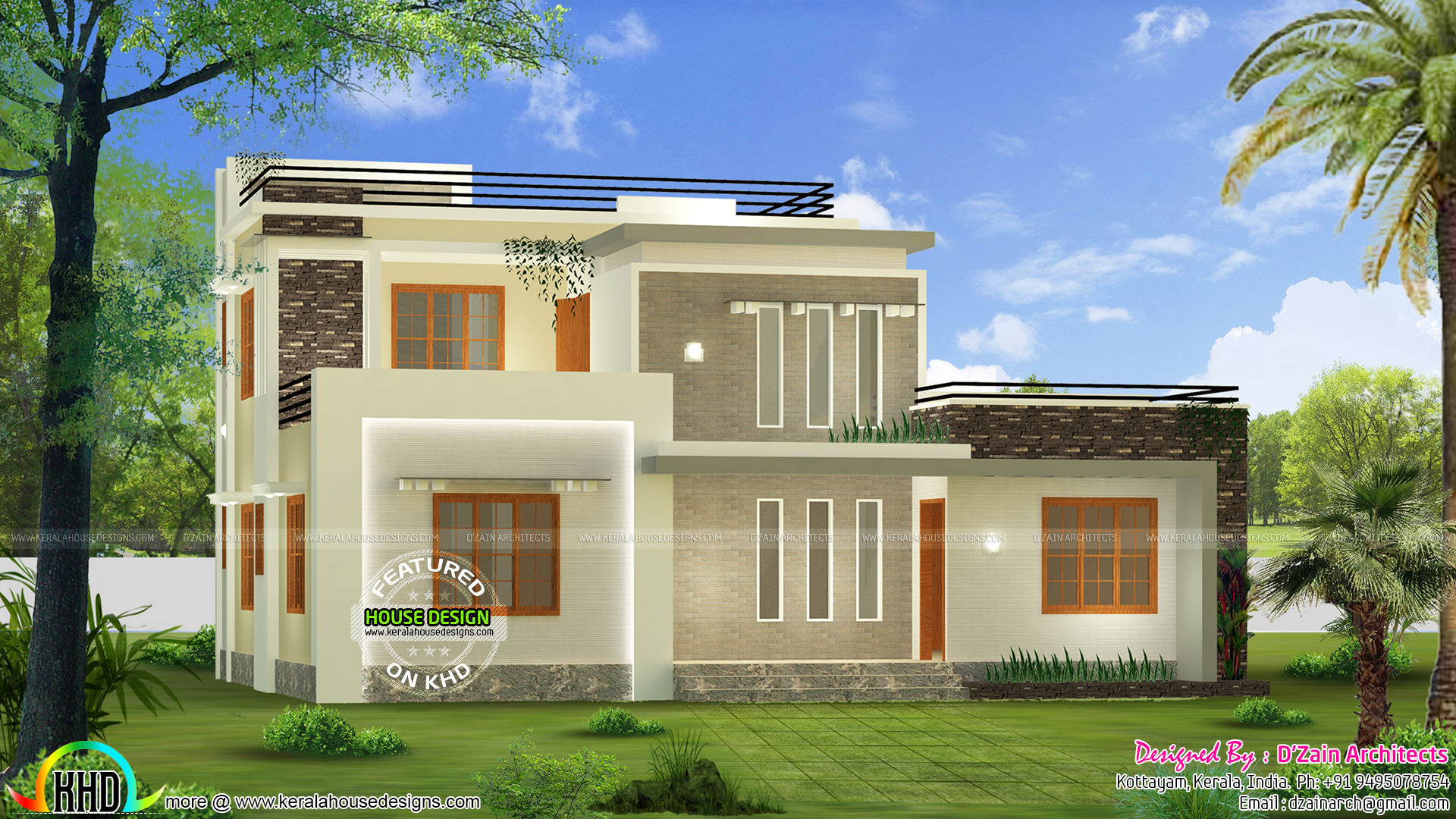 Kerala home design and floor plans for Modern houses design