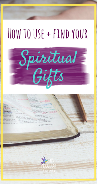 In the Christian faith, using the gifts God has given us for His glory is important. But sometimes it can be hard to identify what our spiritual gifts are, or how to best use them. Today on The Peculiar Treasure, we are talking all about finding and utilizing our spiritual gifts well. #Christian #faith #spiritualgifts