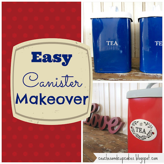 Drab to Fab Tea/Coffee Canister Makeover