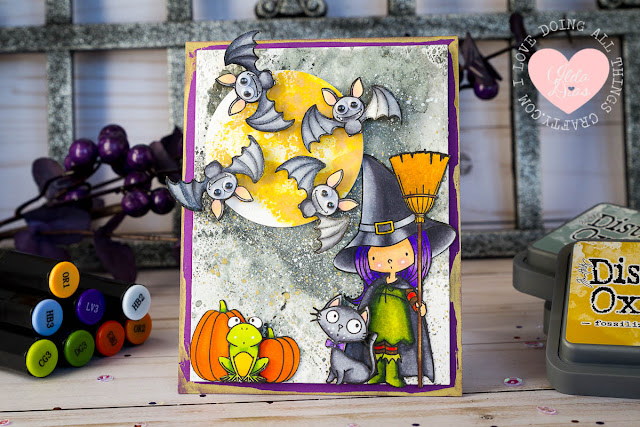 I'm Bats About You Spinner Card  - A Halloween Countdown Series ft MFT's Witch Way is the Candy stamp set