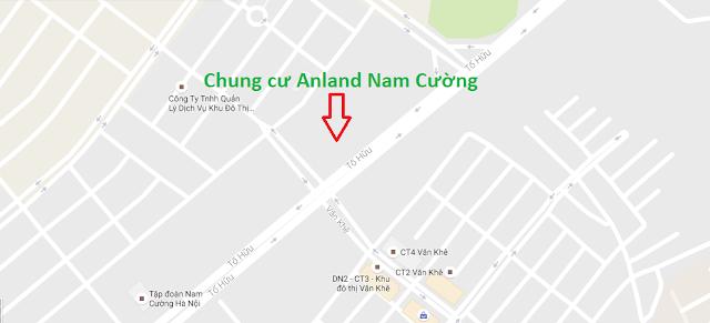 Vị trí chung cư Anland Nam Cường