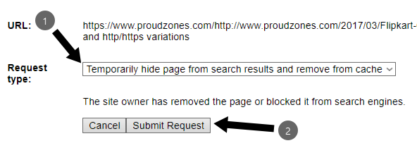 Remove links Google search result