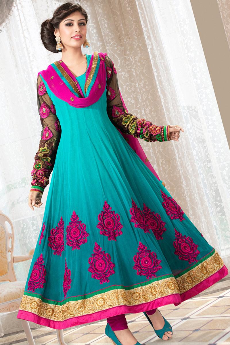 New Fashion Styles: Stylish Anarkali Bridal Dress 2013