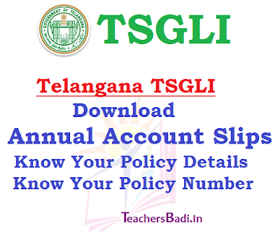 TSGLI Annual Account Slips,Policy Details,Policy Number