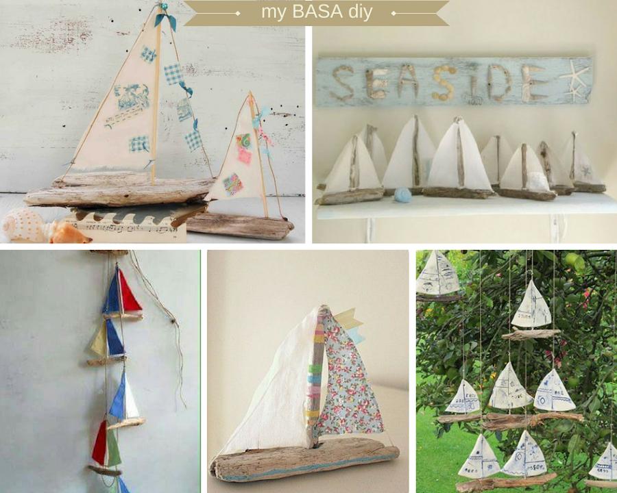 Paso a paso velero de madera y tela proyecto creativo verano familia niños manualidades diy playa mar vacaciones decoración