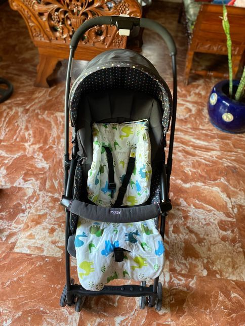 Front view of our Aprica Baby Stroller