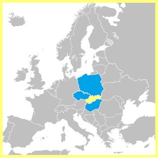 Mapa Grupo Visegrad