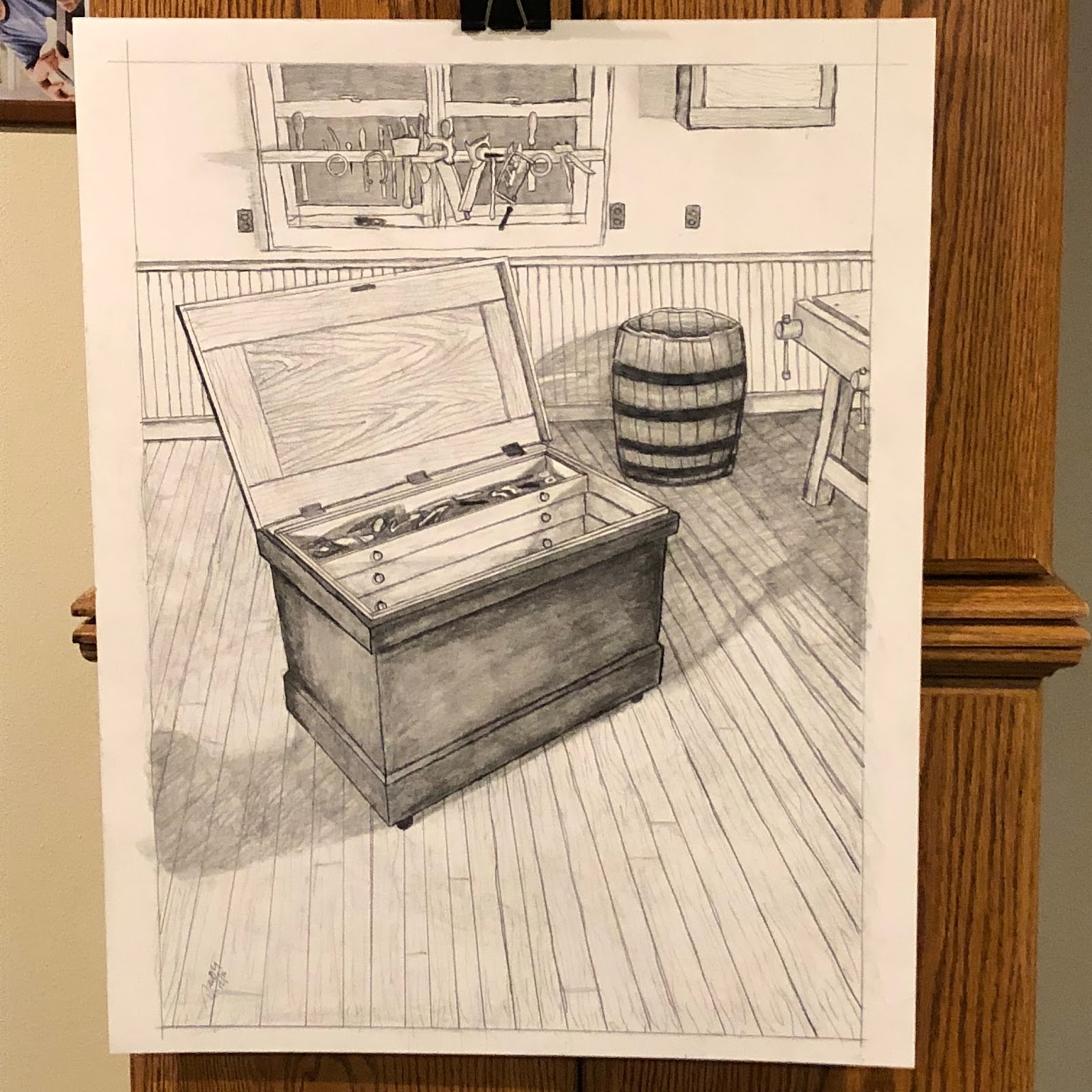 SOLD: Hand Drawn Anarchist Tool Chest Poster