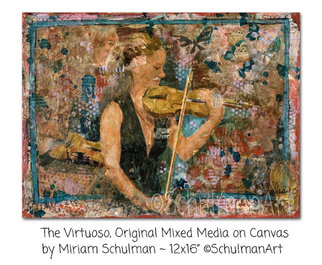 musical art | violin art | http://schulmanart.blogspot.com/2016/03/3-reasons-why-music-is-ultimate-escape.html