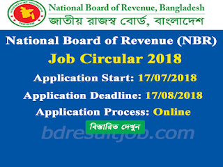 National Board of Revenue (NBR) Job Circular 2018