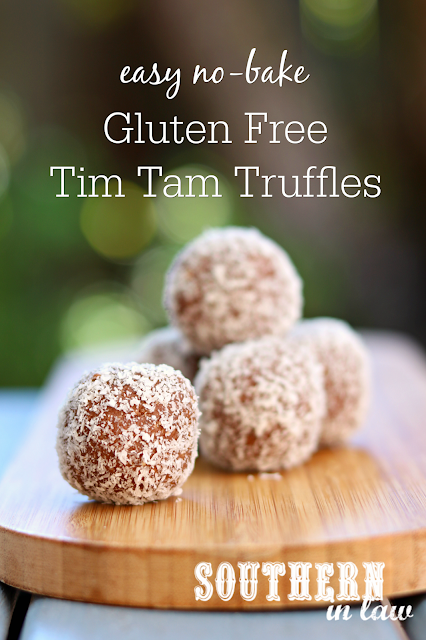 Easy Gluten Free Tim Tam Truffles Recipe - No bake, gluten free, last minute Australia Day dessert recipes, tim tam balls, cream cheese