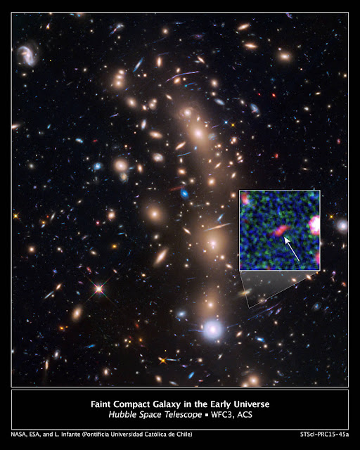 NASA Space Telescopes See Magnified picture of the Faintest Galaxy from the Upcoming Universe