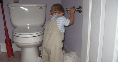 Frugal Child Safety: Save That Toilet Paper!