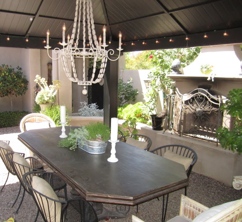 Outdoor Dining Room: Anythingology: My Outdoor Dining Room