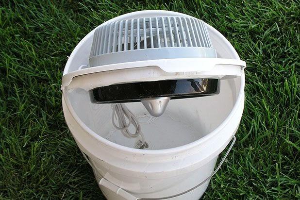 buat sendiri AC portabel dari ember bekas