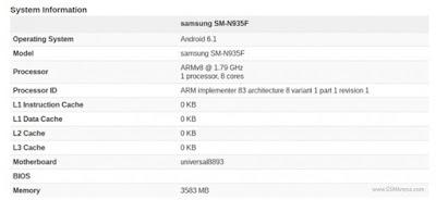 Galaxy Note 7 lo thong so ky thuat